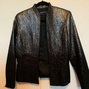 Black and silver shimmering blazer